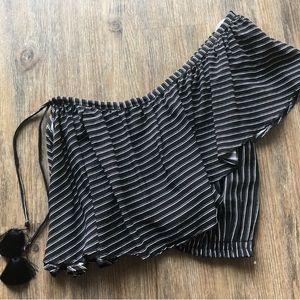 FAITHFULLY THE BRAND one shoulder blouse